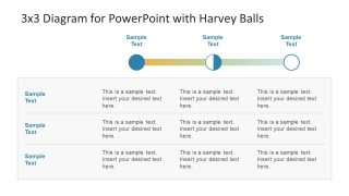 3×3 Diagram for PowerPoint with Harvey Balls