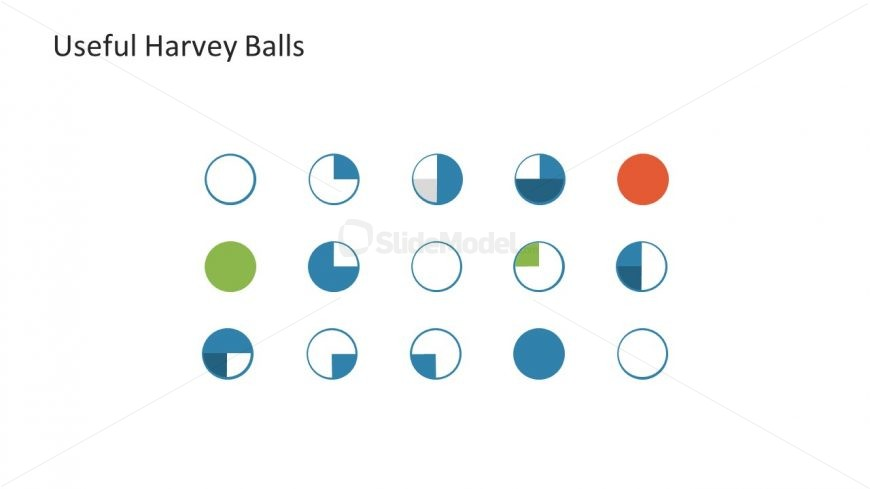 Icons and Shapes of Harvey Balls