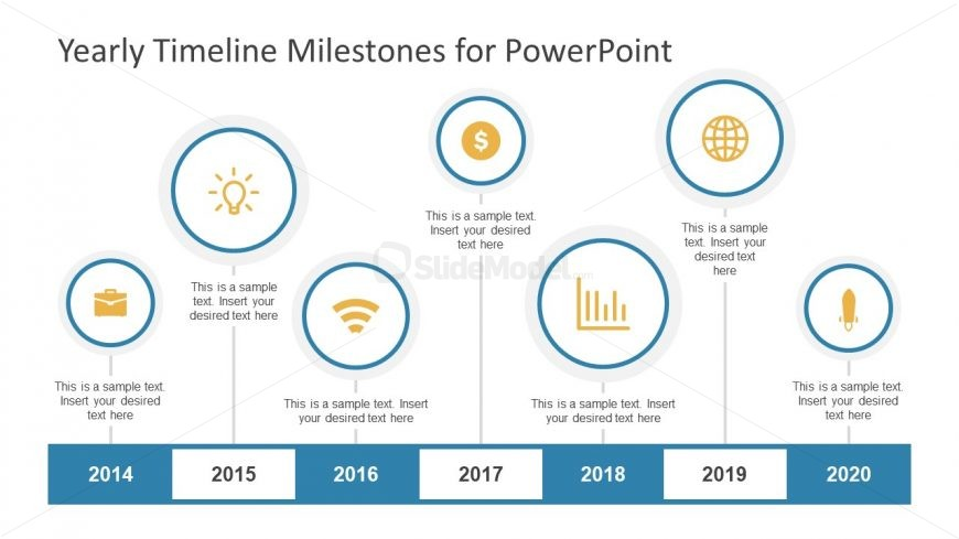 Horizontal PowerPoint of Timeline and Planning