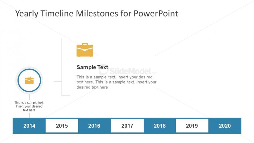 Yearly Timeline PowerPoint Slide