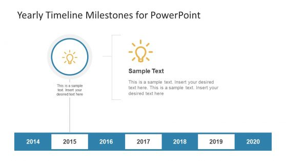 Infographic PowerPoint Icons of Milestone