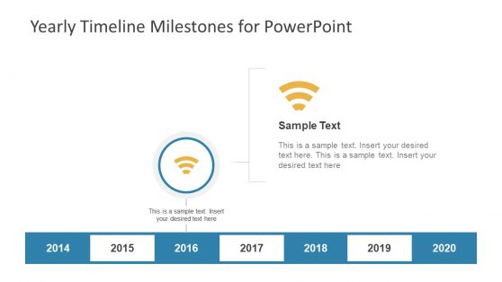 PPT Yearly Milestone Timeline for Goals