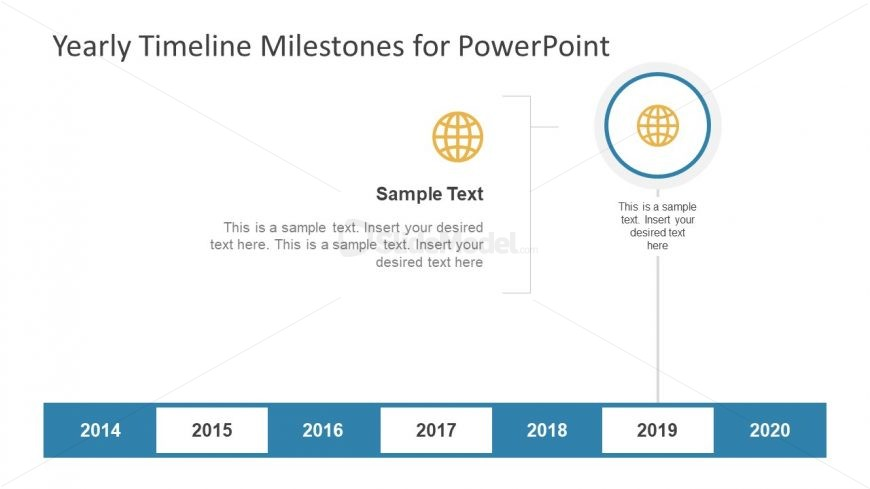 Globe Infographic Icon Template Milestone PPT