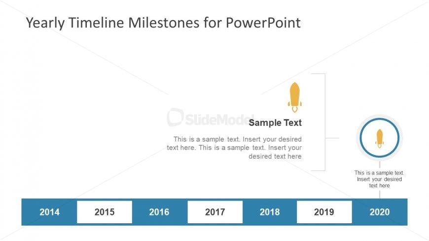 Milestones of Yearly Timeline Horizontal View