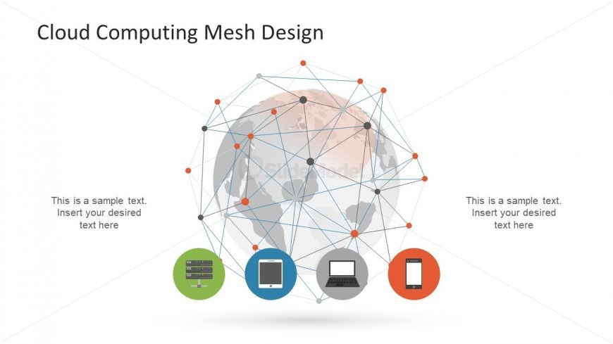 Infographic Icons and Network Mesh Design