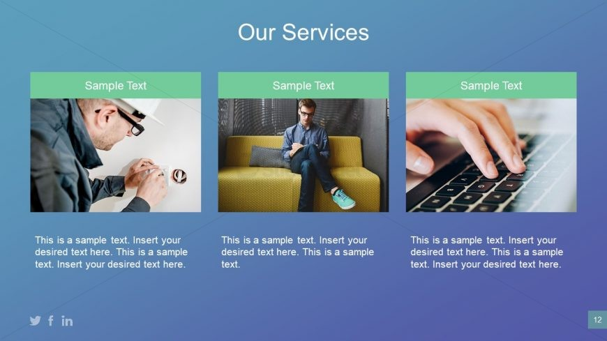 Presentation Template of Services from Business Plan