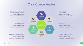 Hexagonal Graphic Presentation of Competencies