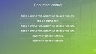 Organizational Profile Display in PowerPoint