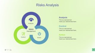 Infographic Three Point Diagram for Business Risks