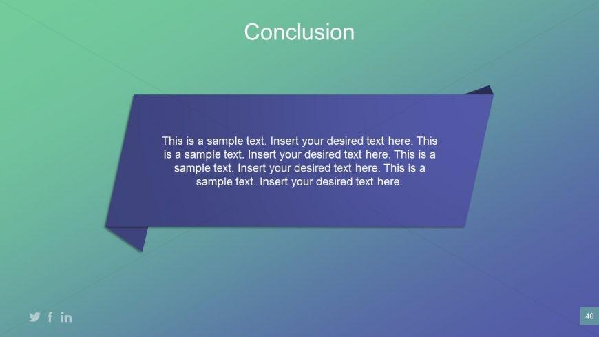 Conclusion Of Business Plan Presentation Slidemodel