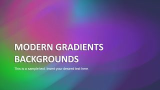 Modern Gradient Backgrounds for PowerPoint