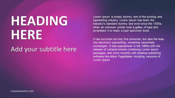 PowerPoint Presentation Purple Background