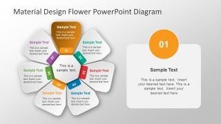 PowerPoint Circular Flower Diagram