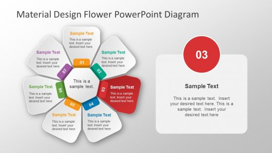 Flower PowerPoint Shape 7 Steps