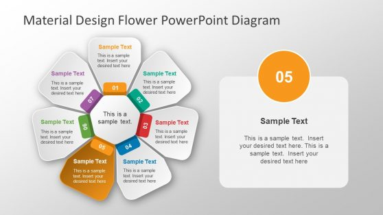 Flower Layout Material Design Diagram