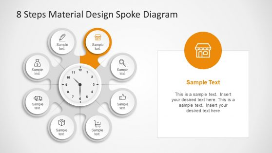 Material Design Spoke Diagram PPT