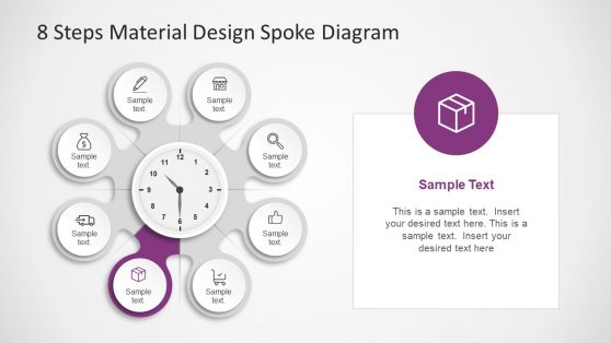 Clock Clipart Template Vector PPT