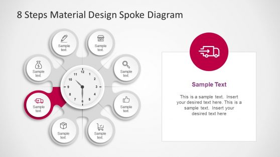 Circular Spoke Diagram Business PPT