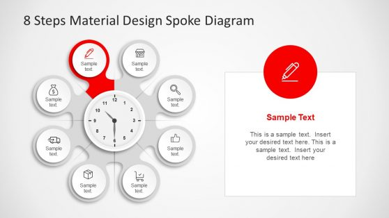 Circular 8 Steps of Material Design PPT