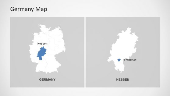 Germany Editable Maps of PowerPoint