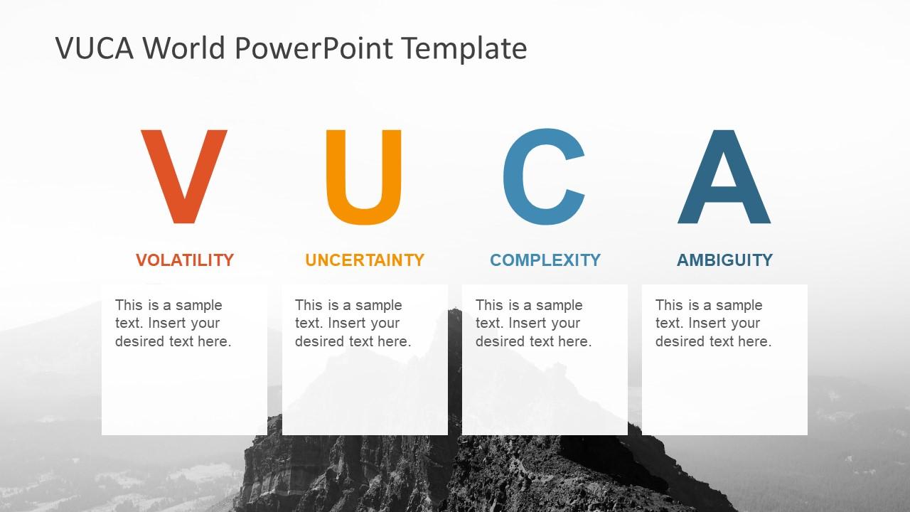 Slide of 4 Segments VUCA