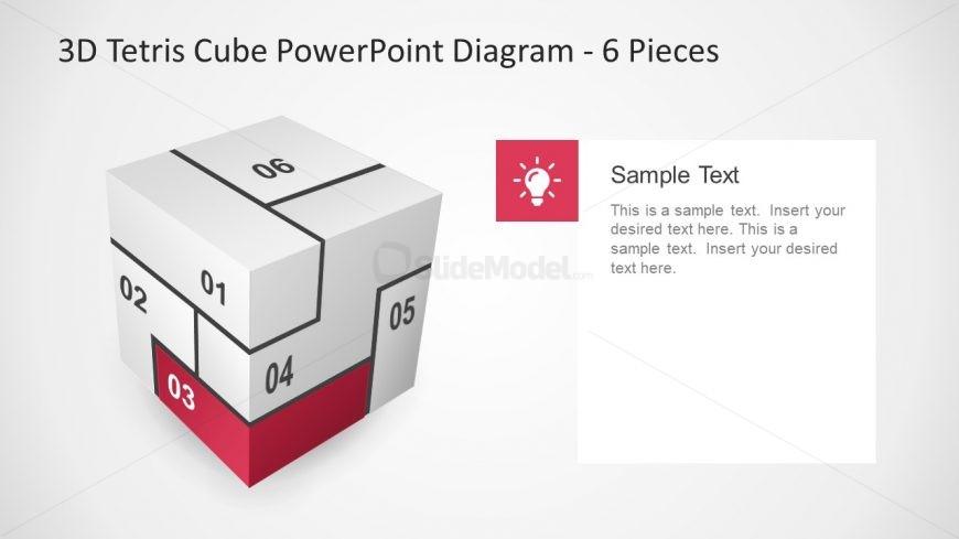6 Section Lightbulb Innovative Diagram