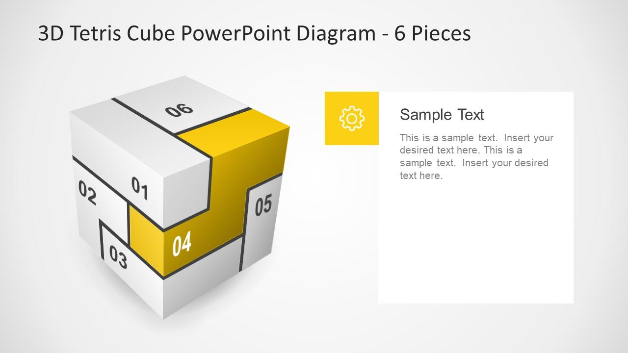 Editable Presentation of Infographic Tetris