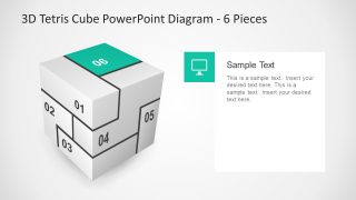 Cool Sections Puzzle Style Cube Template