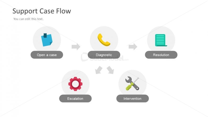 Creative Process Diagram with Infographics