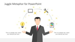 Juggle Metaphor Illustration for PowerPoint