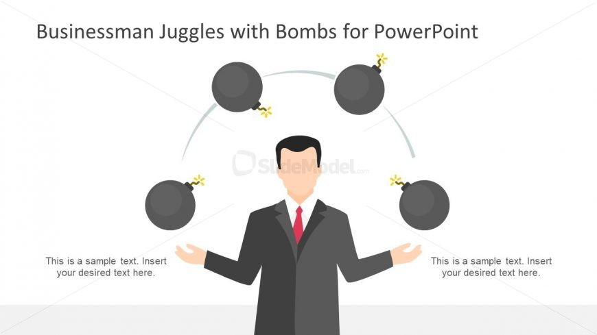 Editable PowerPoint of Juggling Bombs