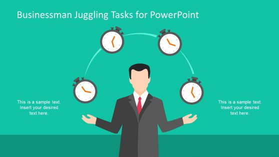Presentation of Businessman Juggling Stopwatch
