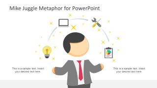 Mike Juggle Metaphor Illustration for PowerPoint