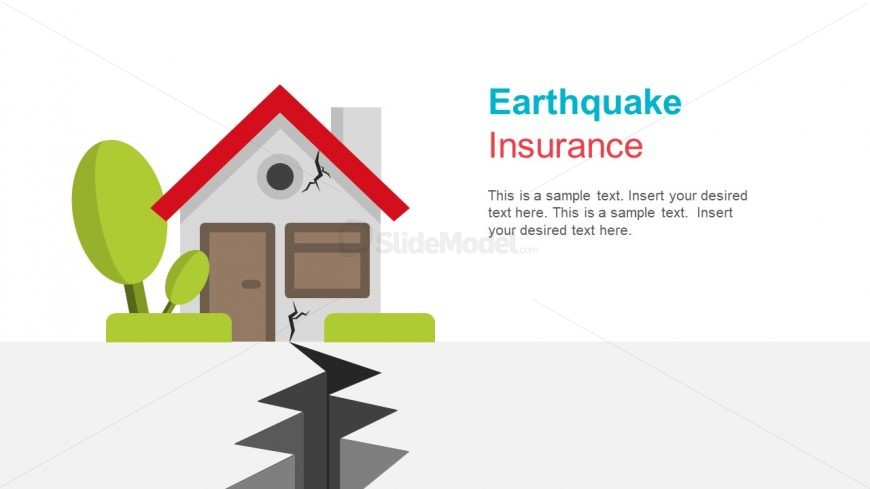 Graphics of Cracking Earth and House