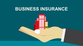 Hand Protecting Business By Insurance