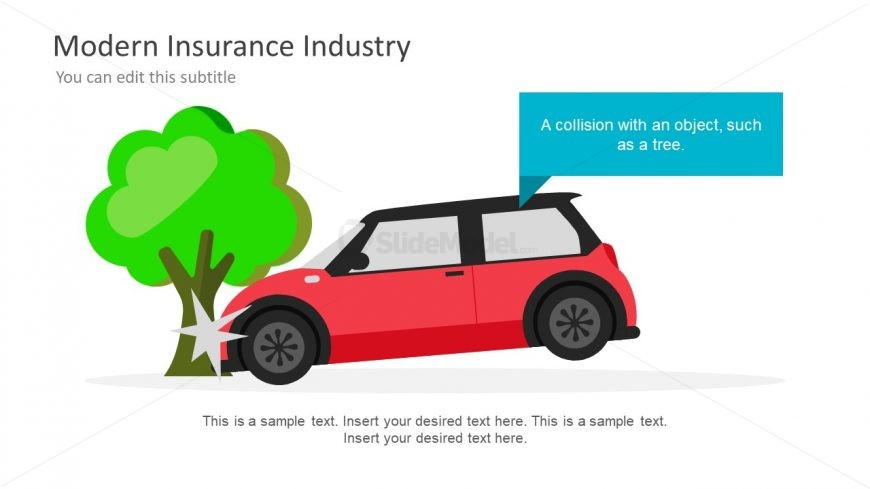 Illustrations of Car and Tree Collision