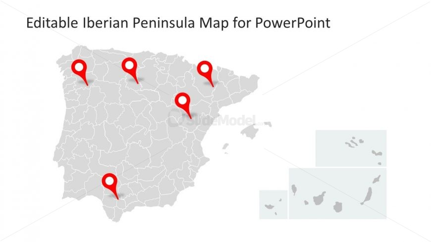 Location Marker PowerPoint Map