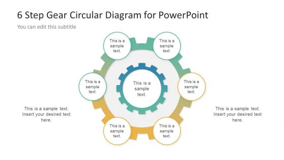Circular Diagram Template Gear Shape