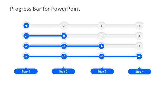4 Step Progress Bar PowerPoint