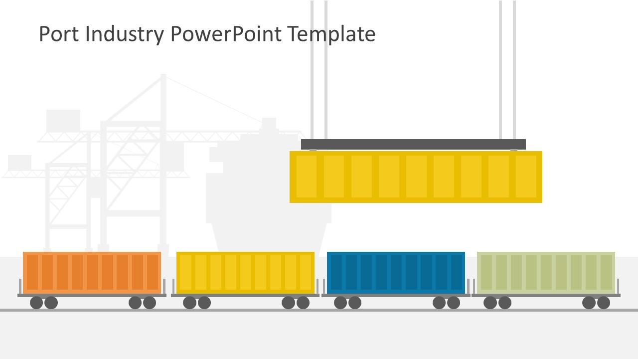Port Industry PowerPoint Template - SlideModel