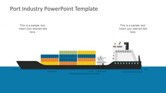 Ship Full of Containers Template