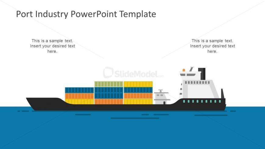 Marine Trade Cargo Ship and Container Icons