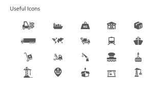 Template Slide Icons for Shipping