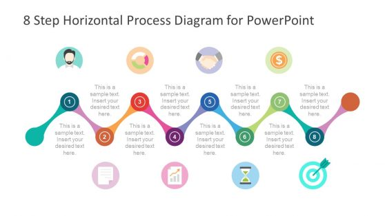 Infographic Diagram Template of Horizontal Process