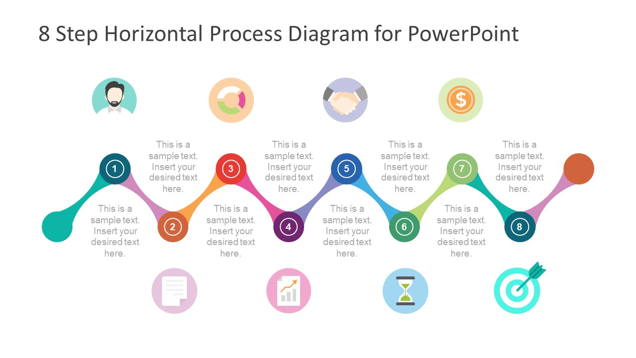 8 Step Diagram Template of Illustrations