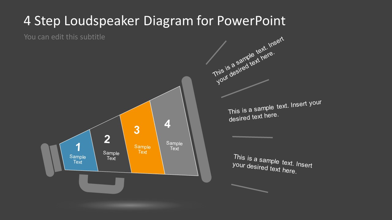 Loudspeaker Shape Diagram of 4 Steps