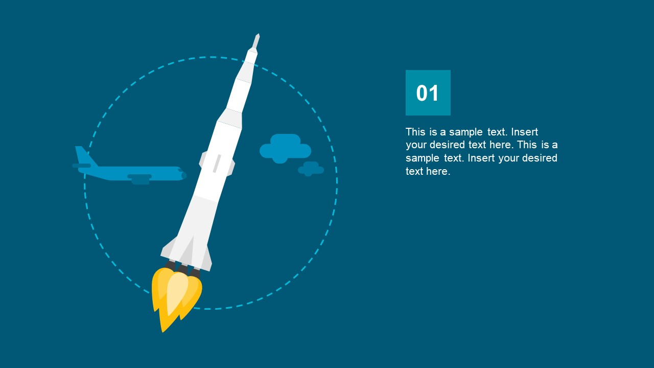 Slide of Rocket Booster Trajectory Low Earth Orbit