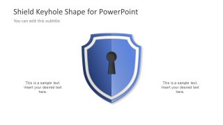 Shield Keyhole Diagram Concept for PowerPoint