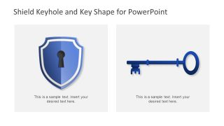 Vector Shapes of PowerPoint Shield Lock