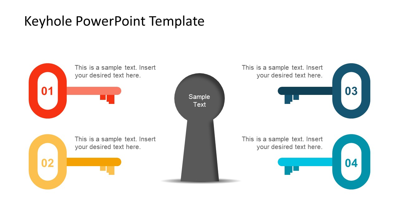Diagram Template of 4 Step Key Segments